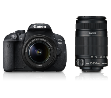 EOS 700D Double Zoom (EF S18-55 IS II & EF S55-250 IS II) - Canon India - Personal
