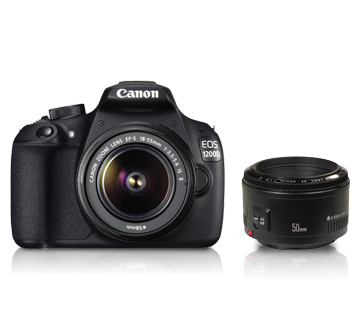 EOS 1200D Dual Kit (EF S18-55 IS II & EF50mm f/1.8 II) - Canon India - Personal