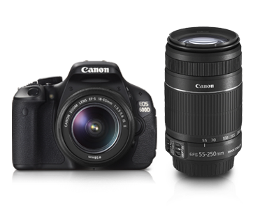 Canon DSLR EOS-600D Kit 18-55mm IS + 55-250mm IS
